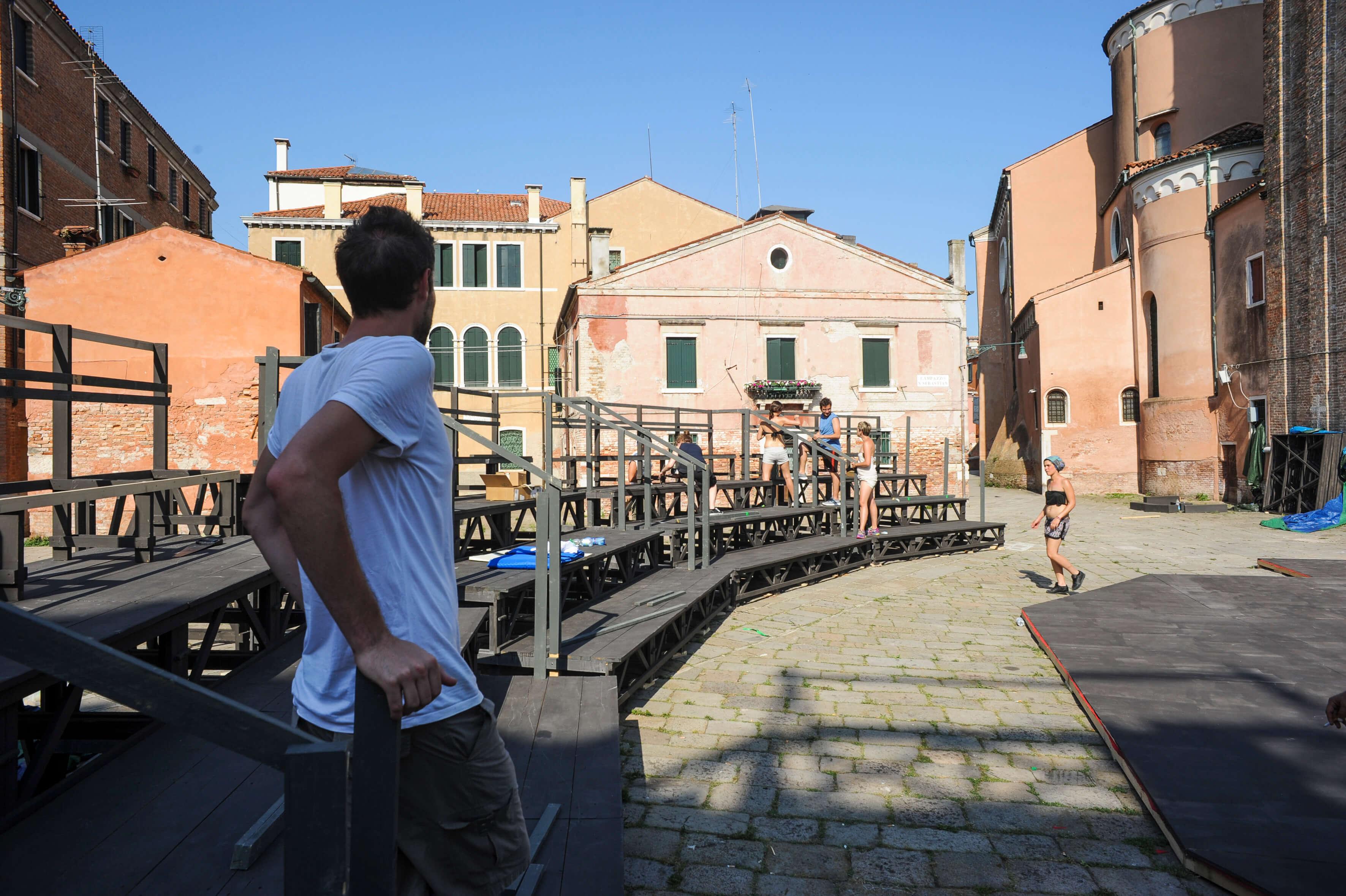 Teatro all'aperto a Venezia